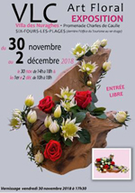 Flyer Expo Section Art Floral de VLC